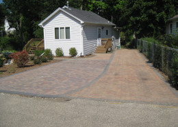 Front landscaping -driveway extention