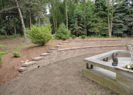 Multi Level Retaining Wall Installation