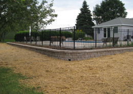 Surrounding Pool Wall installation and Landscaping