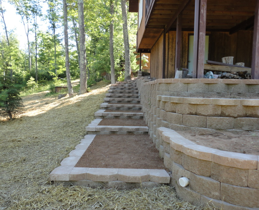 Side yard and steps after image