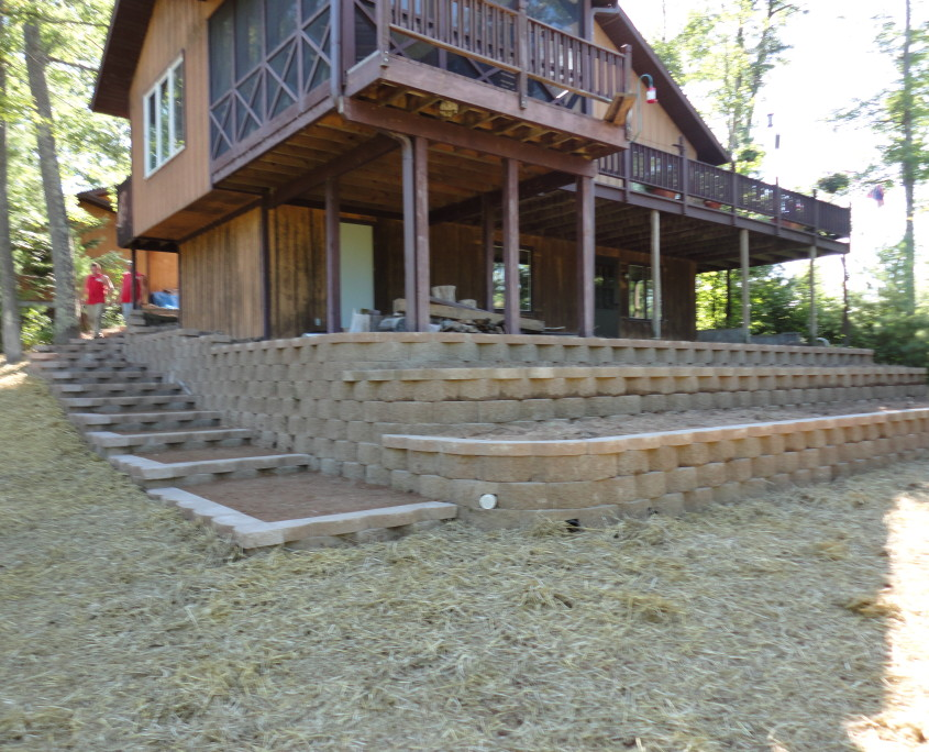 Side walkway and stairs after image