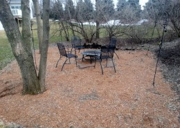 Paver Patio and Fire Pit Burligton BEFORE IMAGE