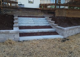 Stone Stairs and Retaining Wall Burlington Wi