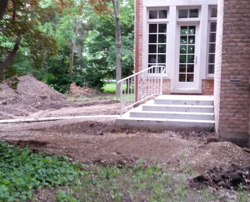 Site Preparation for Patio Install