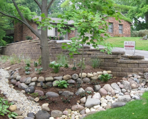 Front Yard Retaining Wall in Burlington, WI