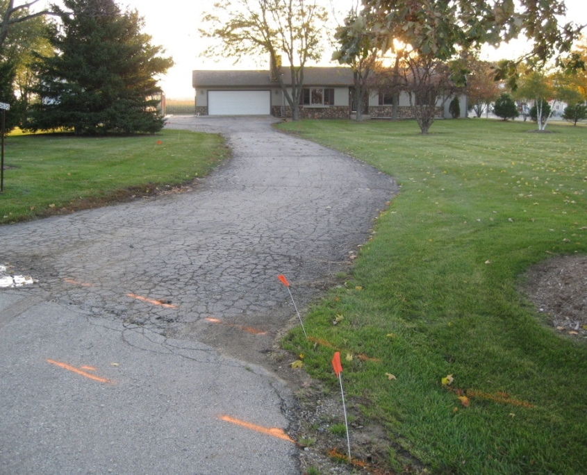 Before Paver Driveway Installation in Burlington, WI