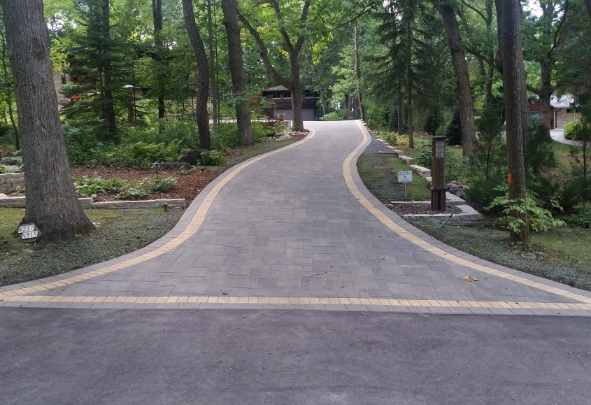 New Paver Driveway in Burlington, WI