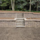 Step Retaining Wall with Stairs Installation