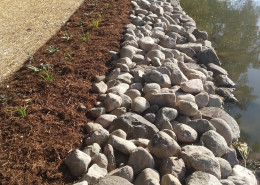 Shoreline Restoration by Burlington Landscaping company