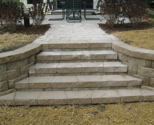 Wind Lake Stone Step Installation