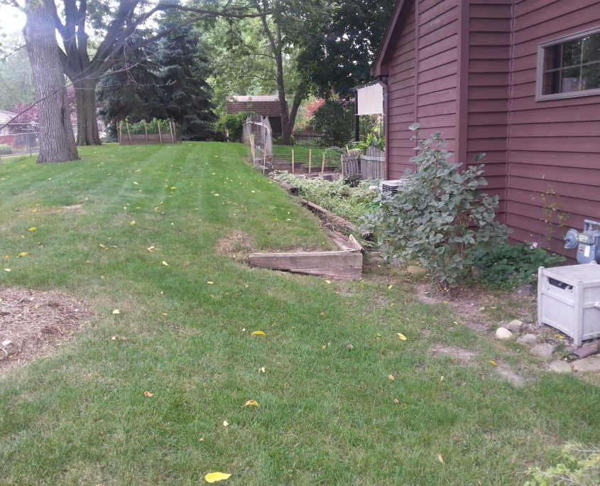 Before Patio Installation in Union Grove, WI