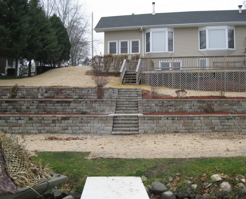 Landscaping Wall and Steps Repair AFTER