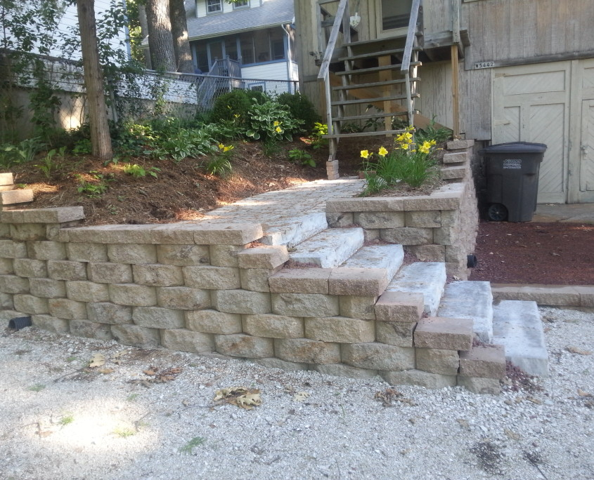Concrete wall and steps AFTER