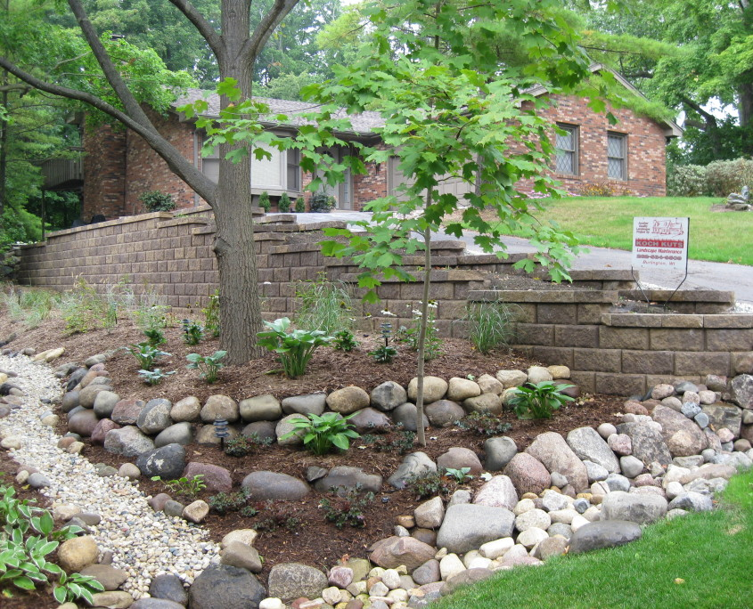 Professional Stone and Concrete Wall Installation After