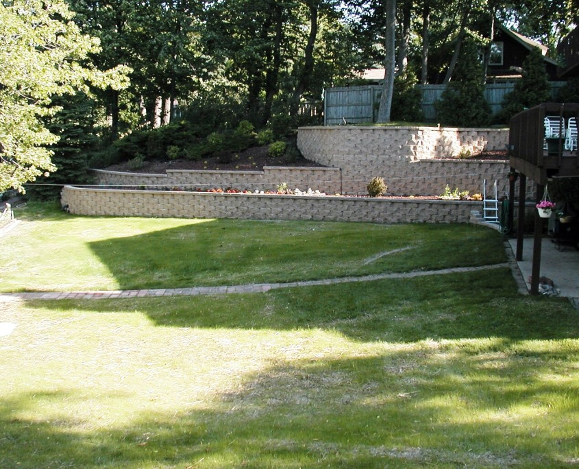 Multi Level landscaping wall AFTER