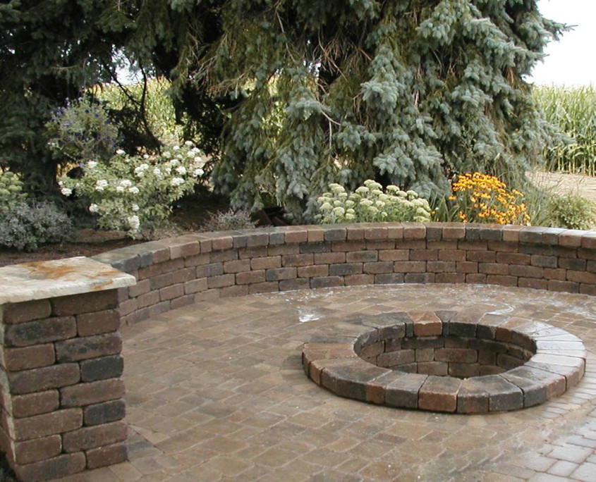 Brick Patio & Fire Pit Installation SE Wisconsin