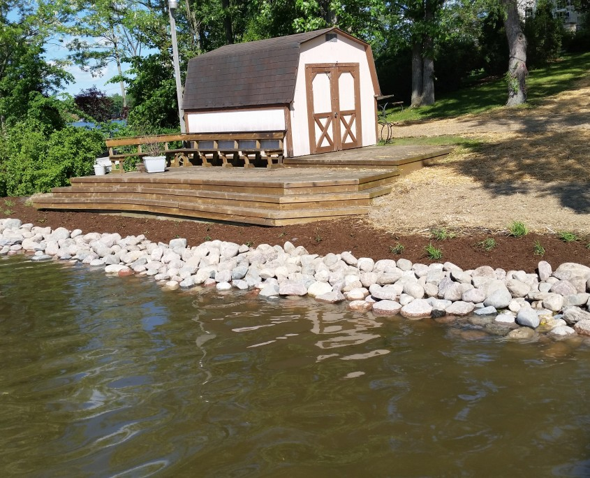 Shoreline Erosion Control Burlington, Wisconsin