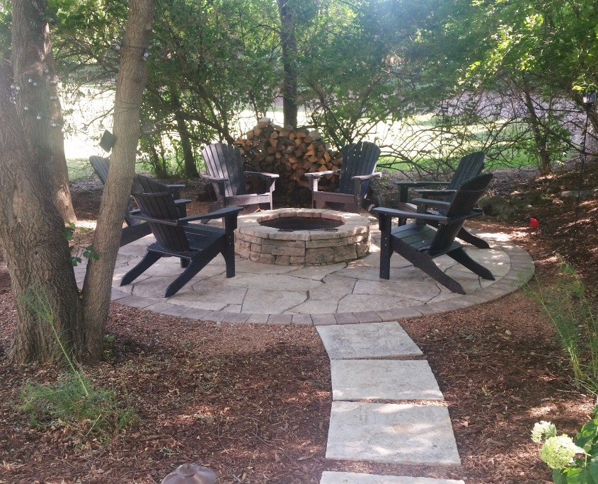 Paver Patio and Fire Pit Burligton