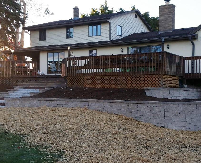 Union Grove Retaining Wall After