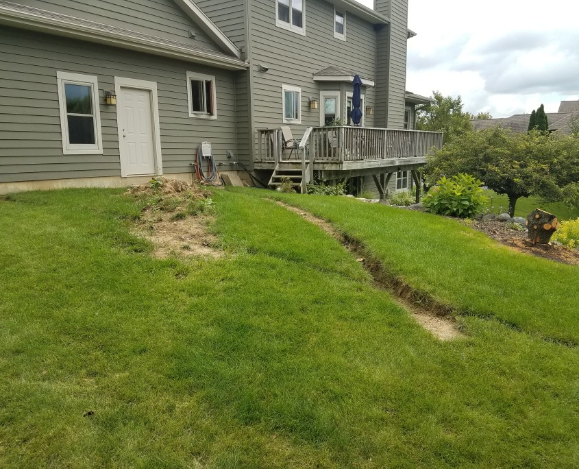Sloped Backyard Before Patio Installation