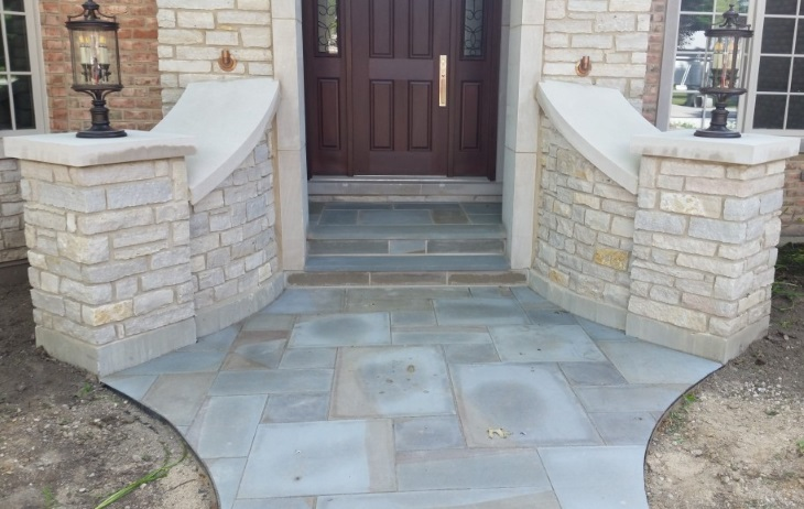 Front of House Hardscapes Burlington, Wisconsin