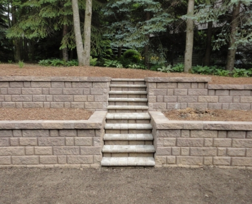 Residential Retaining Wall Installation Burlington, Wisconsin