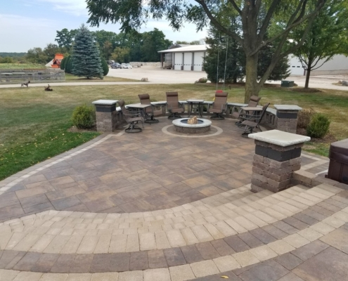 Paver Patio & Fire Pit Installation Burlington, WI